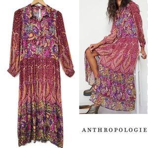 Anthropologie Nikole Maxi Shirtdress Small NWT
